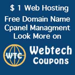 $1 Web Hosting by WebTech Coupons