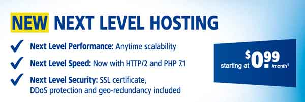 1&1 Low Cost Web Hosting Solution