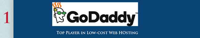Godaddy provide quality low cost web hosting solution