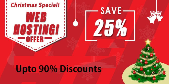 Christmas hosting Discounts offers