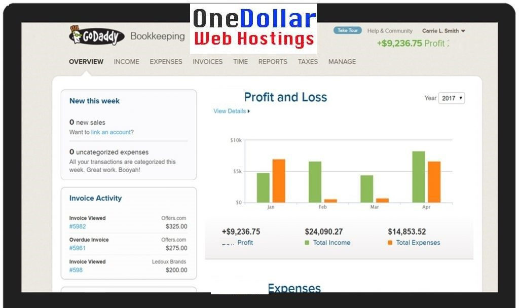 Godaddy online Bookkeeping Review