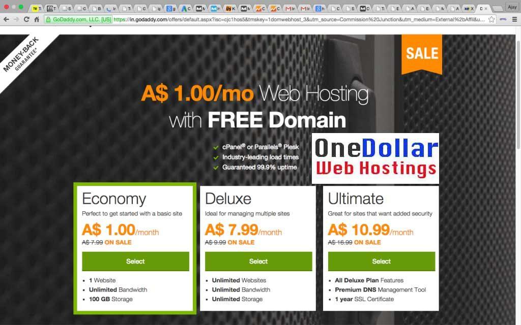 1 AUD Web Hosting Australia