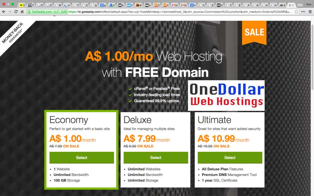 $1 Web Hosting Australia