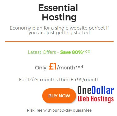 Web hosting UK at 1 pound