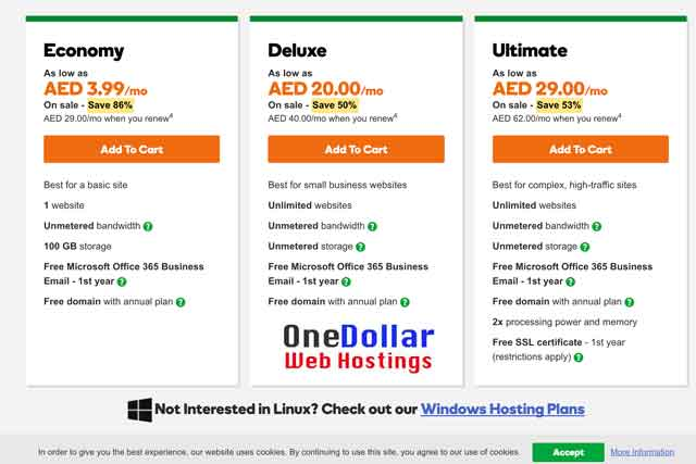 Dubai 4 Dirham Web Hosting with Free Domain Name valid for all United Arab Emirates