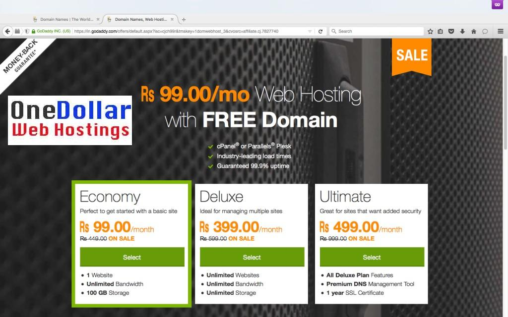 Rs 99 Web Hosting