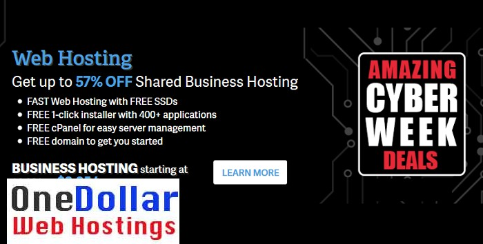 Cyber monday Web Hosting Deals 2018