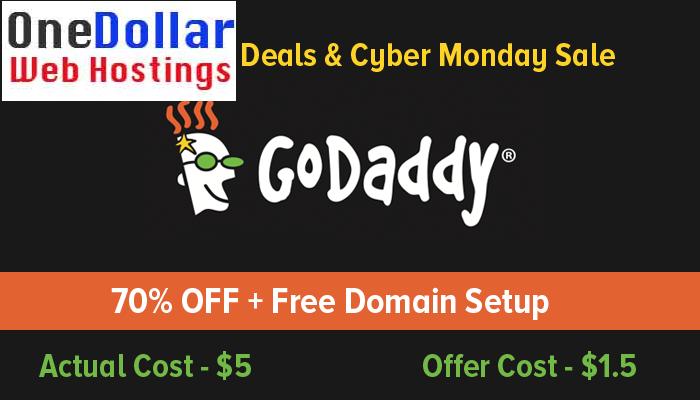 GoDaddy Cyber Monday Offer 2018