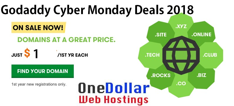 GoDaddy cyber monday Discount offers