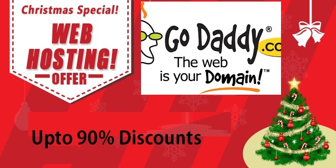 Godaddy Christmas hosting Discounts offers