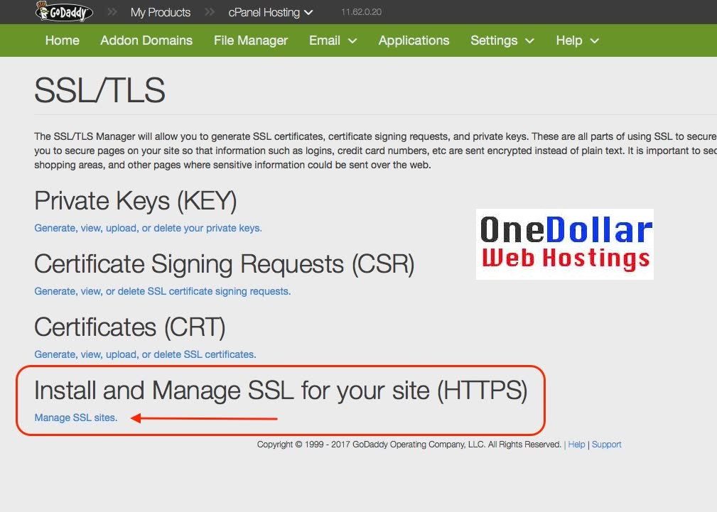 How to install SSL Certificate Godaddy Cpanel - Get HTTPS
