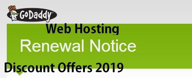 Godaddy Hosting Renewal Discount offers
