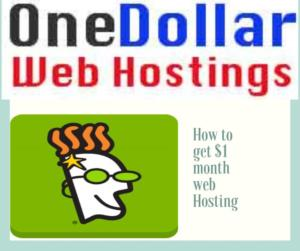 How to get $1 month web hosting