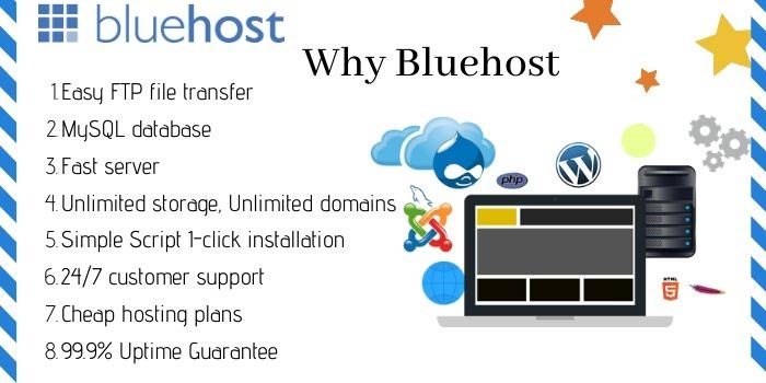 Features of BlueHost