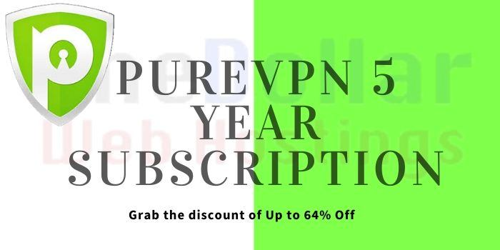 PureVPN 5 Year Subscription