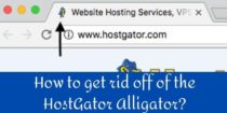 How to get rid off of the HostGator Alligator?