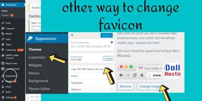 Way to change Hostgator favicon