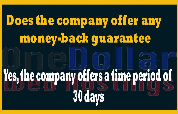 Does the company offer any money-back guarantee