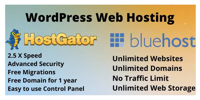bluehost Vs hostgator WordPress hosting