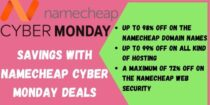 Upto 95% off during NameCheap Cyber Monday Sale
