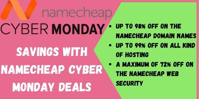 Enjoy amazing offers with NameCheap Cyber Monday Sale