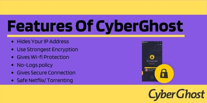 Features of Cyberghost Black Friday deals