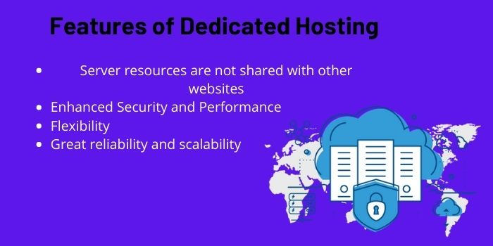 features of dedicated hosting