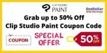 Clip Studio Paint Coupon Code & Discount Sale 2021-CSP Ex & Pro