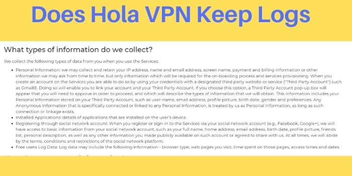 Does Hola VPN Keep Logs