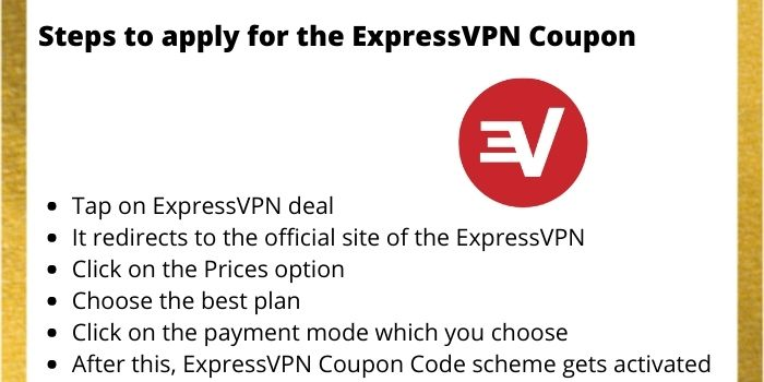 How to apply for the ExpressVPN Coupon