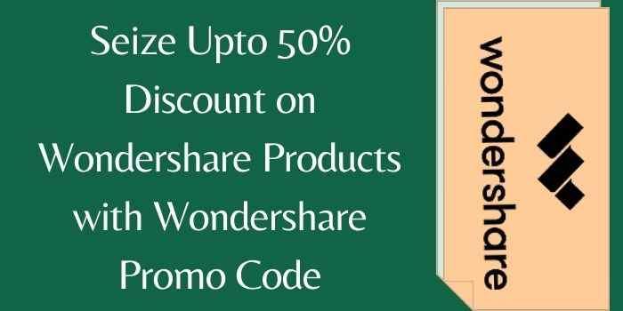 Wondershare Products Promo Code